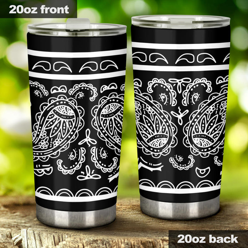 black bandana coffee cups
