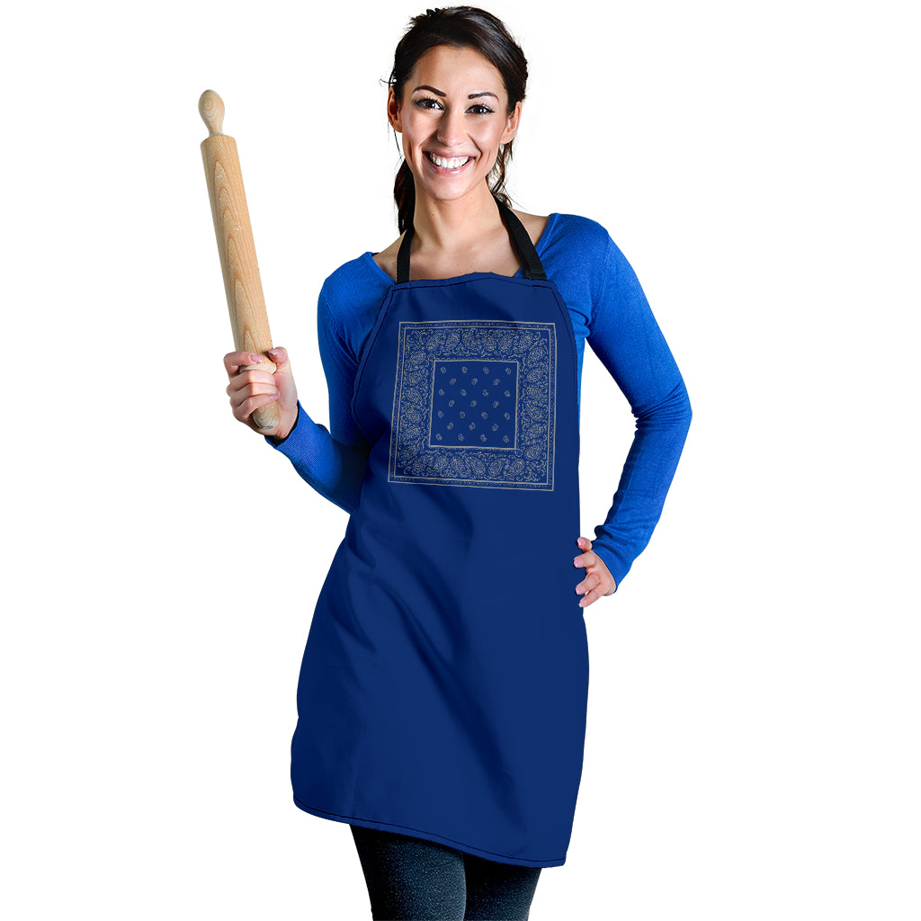 Blue and Gray Bandana Apron