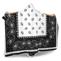 Ultimate White with Black Hooded Blanket