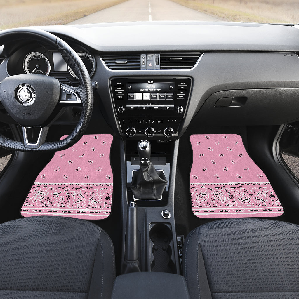 pink bandana auto floor mats for car shows