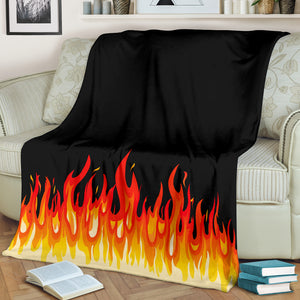 Flame Bandana Fleece Throw Blanket