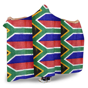Ultimate South Africa Flag Tiled Hooded Blanket