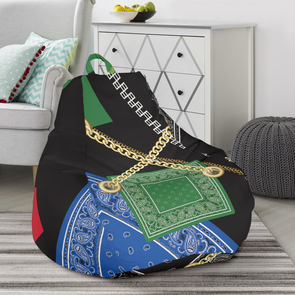Abstract Bandanas Beanbag Chair