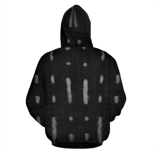 Mud Cloth Pattern Pullover Hoodie