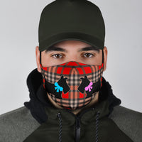 Scottish Terrier on Argyle Face Masks - 2 Styles