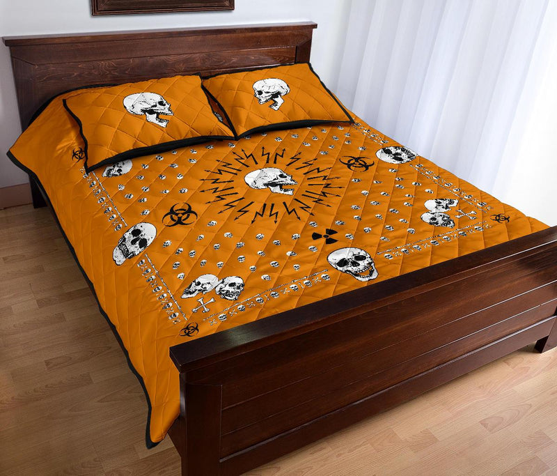 orange skull bandana decor