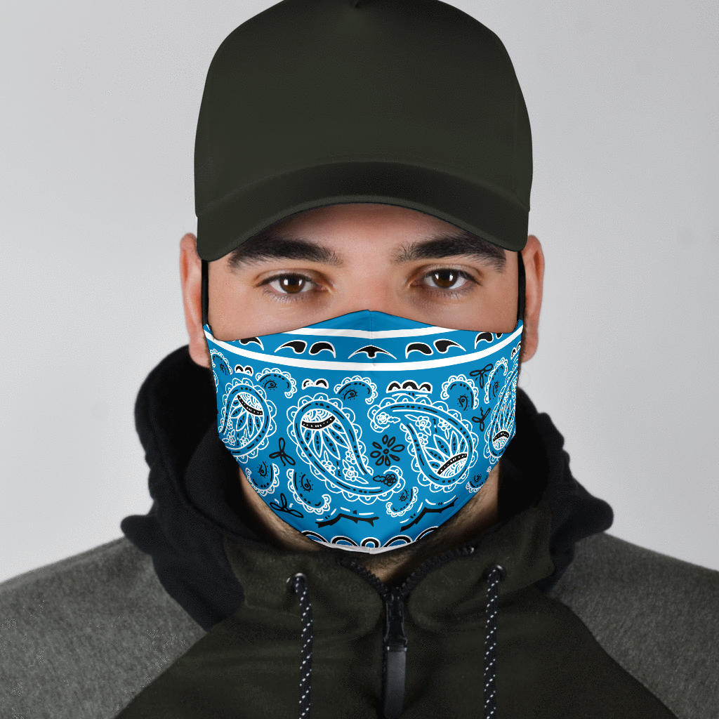Edge Sky Blue Bandana Face Mask