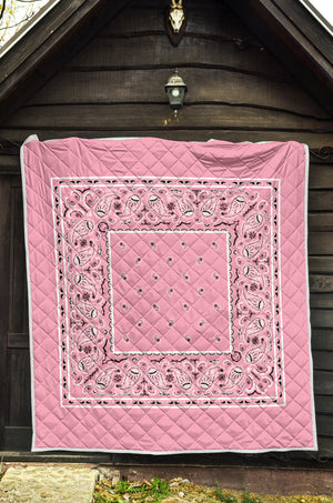 Light Pink Bandana Throw blankets