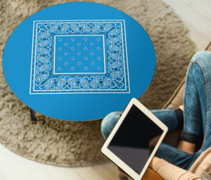 Sky Blue Bandana Round End Table