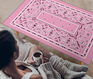 Light Pink Bandana Rectangular Coffee Table