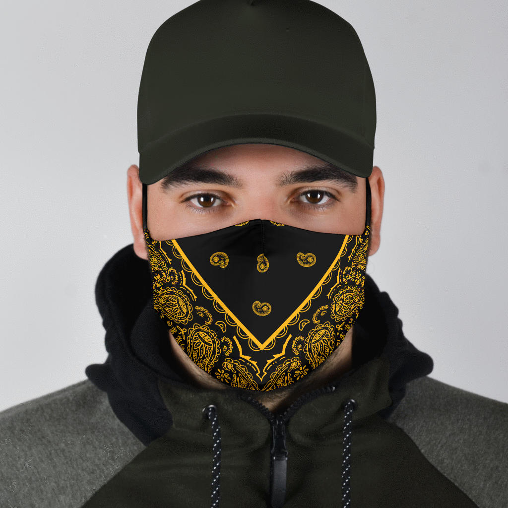 Black and Gold covid mask for men