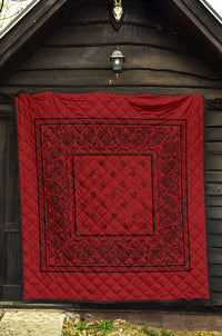 Red with Black Bandana Bedding