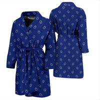 royal blue bandana bathrobe
