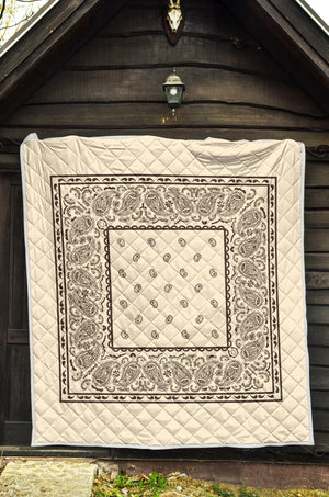 Cream and Brown Bandana Blankets