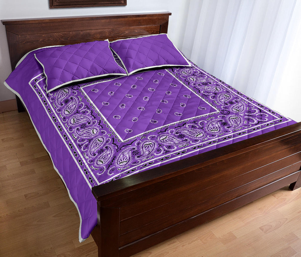 lilac purple bedspread sets