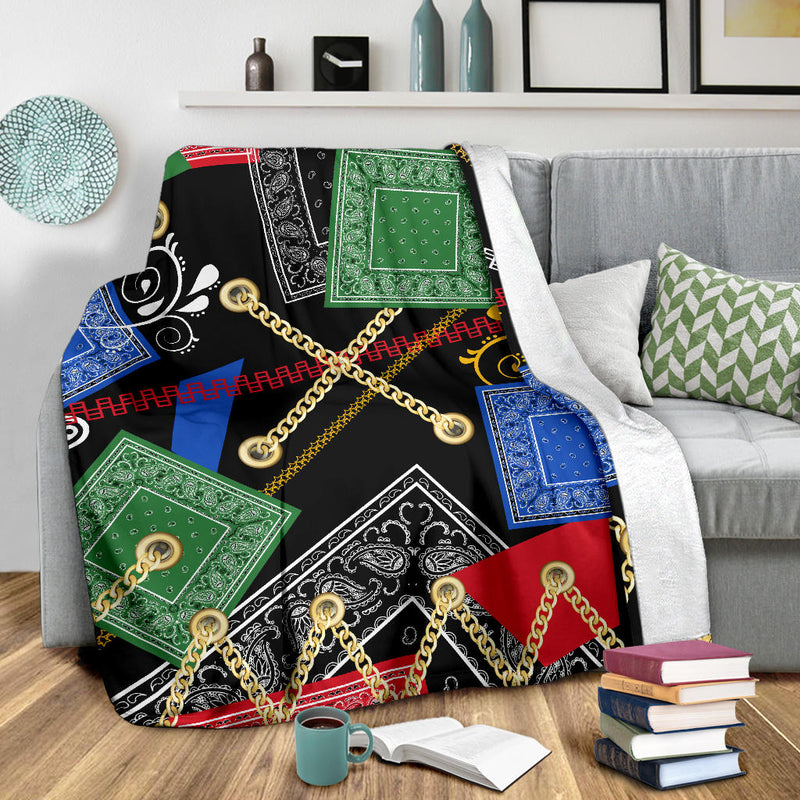 Ultra Plush Abstract Harmony Fleece Throw Blanket