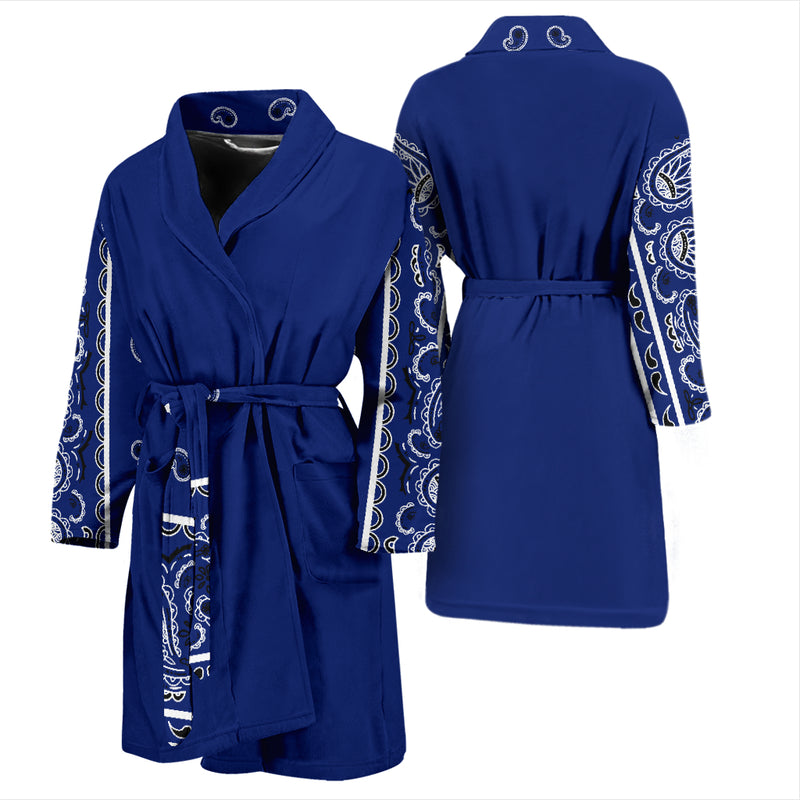 blue bandana robe for men