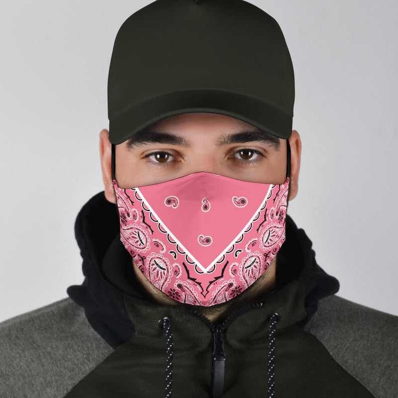 Adjustable Perfectly Peachy Bandana Face Mask with 5 Layer Filters