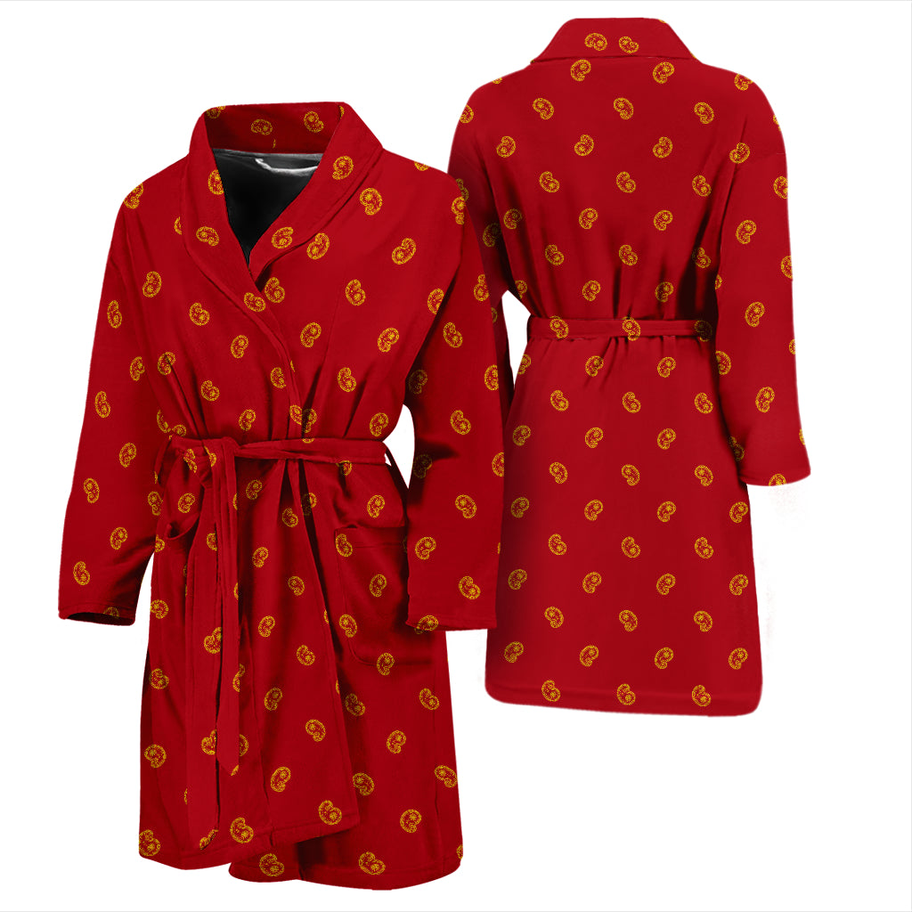 red and gold bandana robe for men