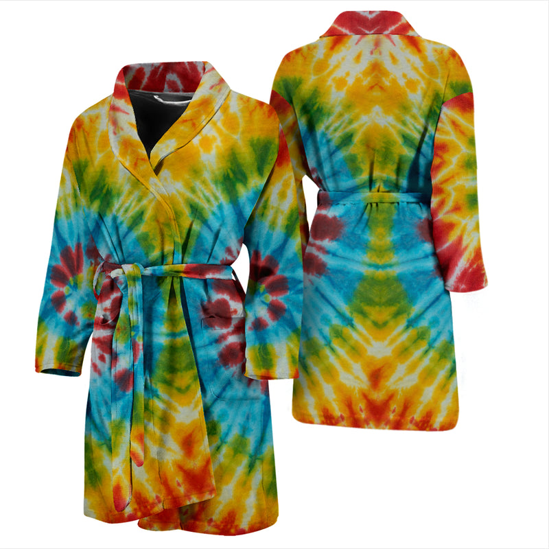 tie dye bathrobe for men