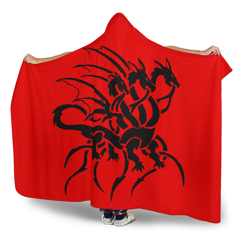 Ultimate Tribal Dragon Hooded Blanket