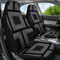 Black and white car seat cover