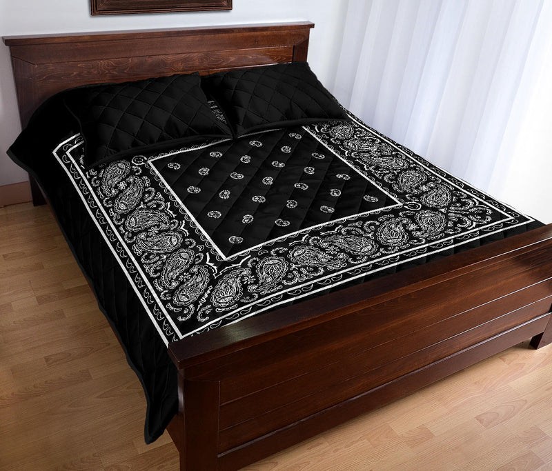 black bandana bedding sets