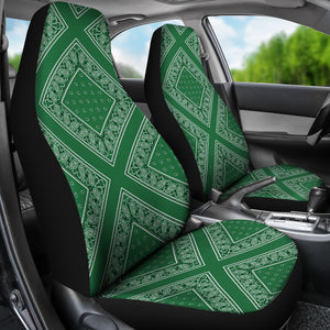 Green car seat cover