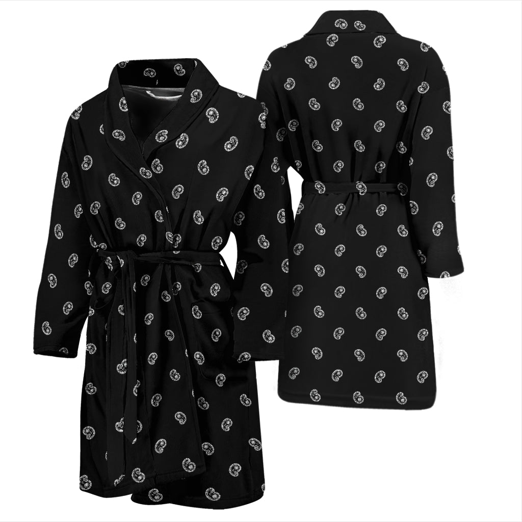 black paisley bathrobe for men