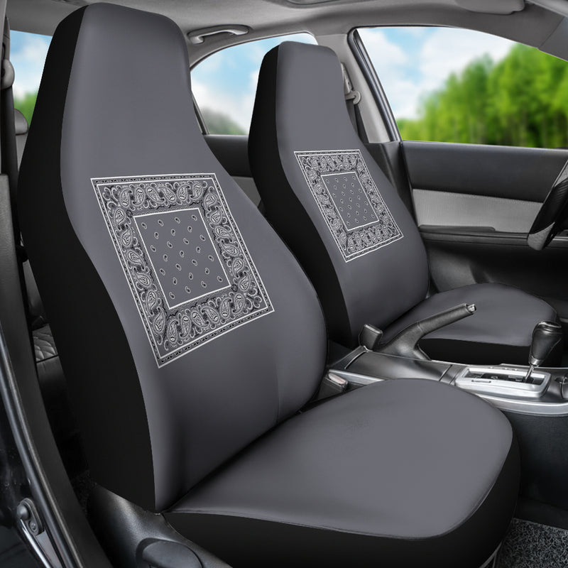grey seat cover