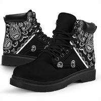 Black Bandana All Season Boots