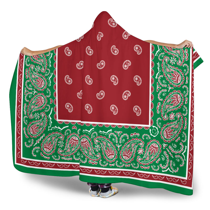 Christmas Bandana Hooded Blanket