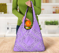Lilac Bandana Reusable Grocery Bag 3-Pack