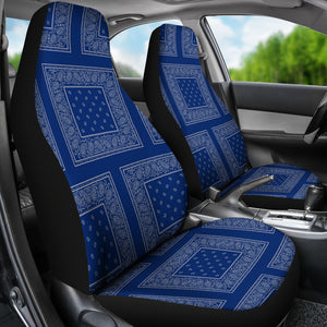 blue and gray car seat cover