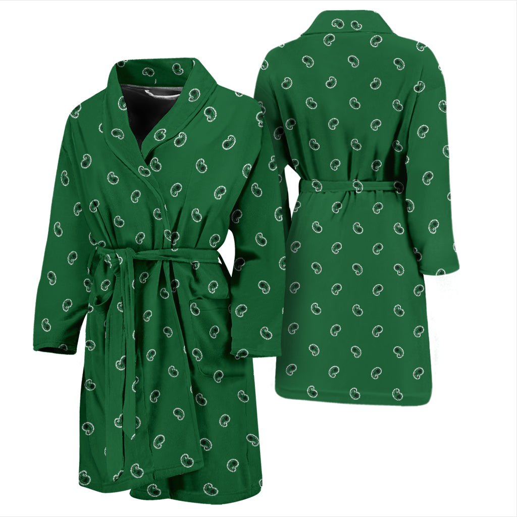 green paisley bandana bathrobe for men