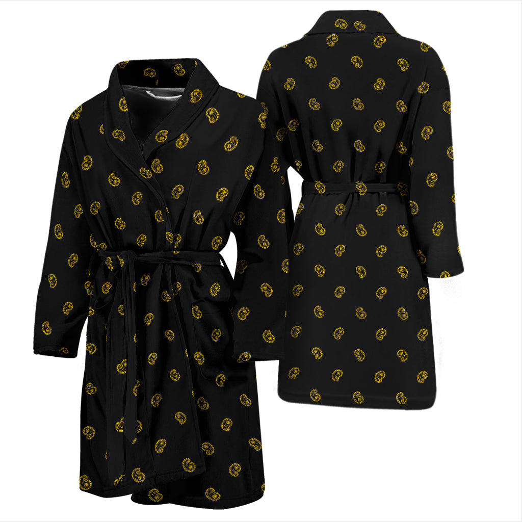 black gold bathrobe