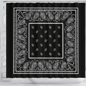 Black Bandana Bathroom Decor