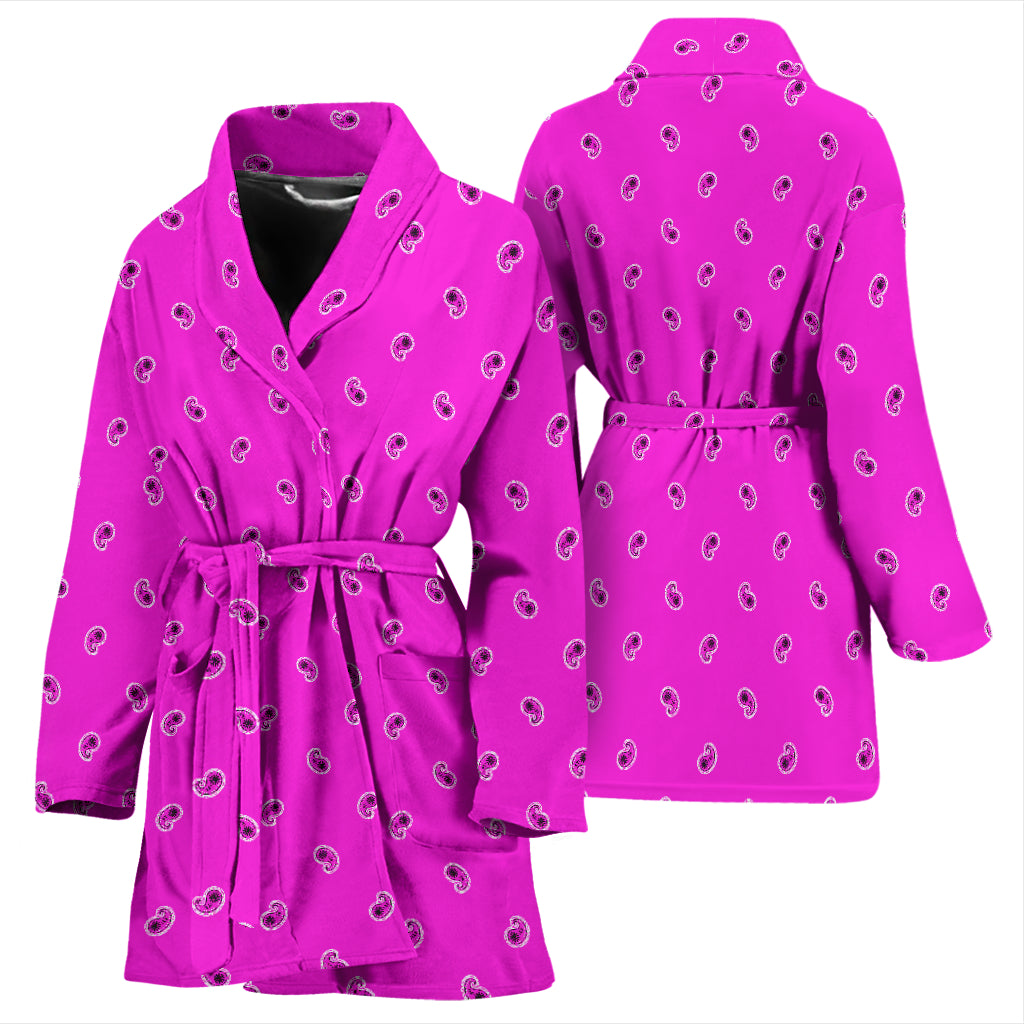 pretty pink bathrobe with paisley