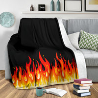 Flame Bandana Throw Blankets