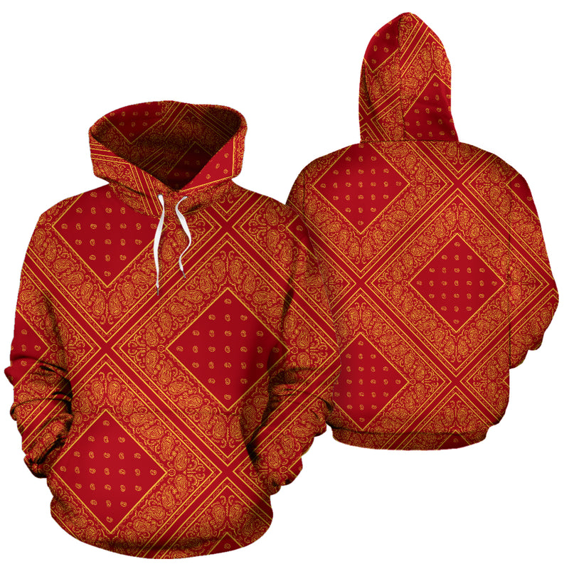 red and gold hoodie
