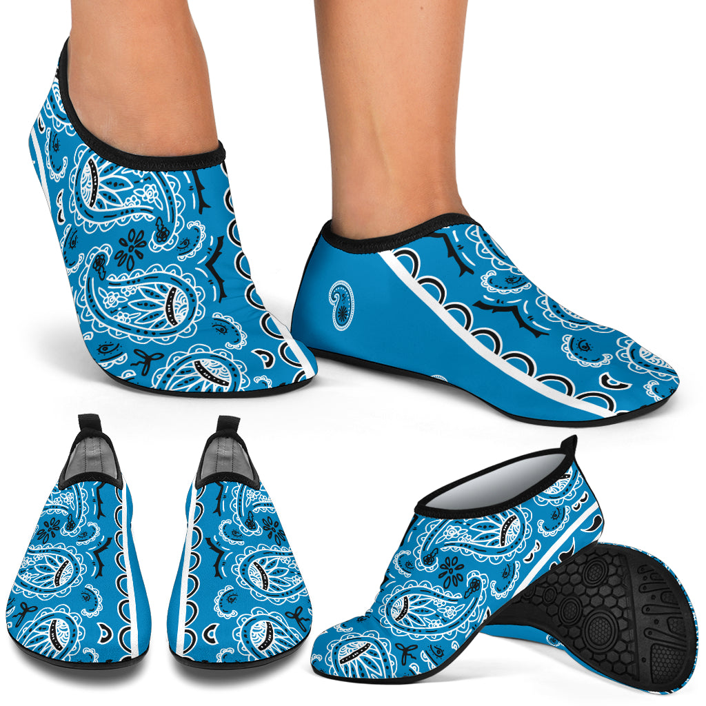 Sky Blue Bandana Addicts Water Shoes