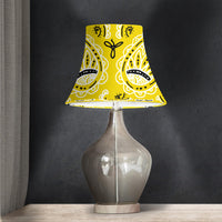 Yellow Paisley Lampshades