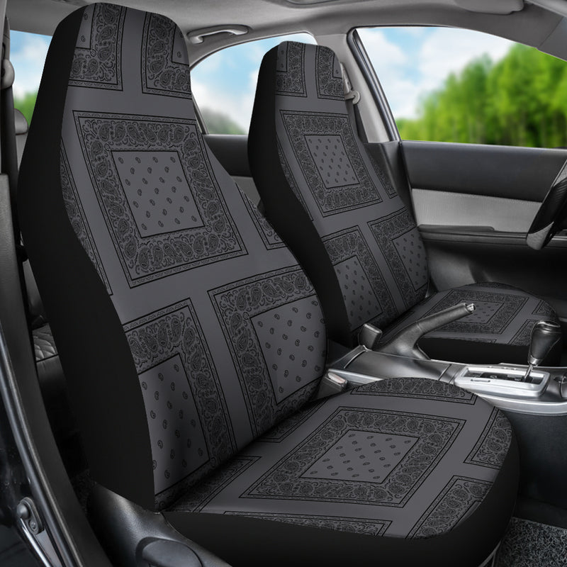 Gray and black seat cover