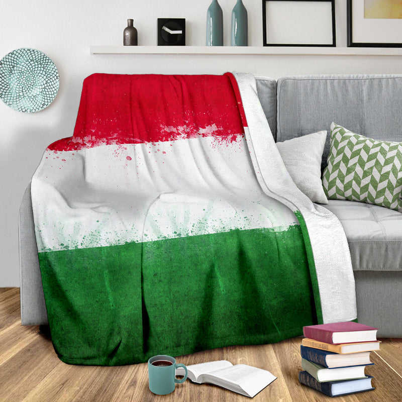 Italian Flag Fleece Throw Blanket
