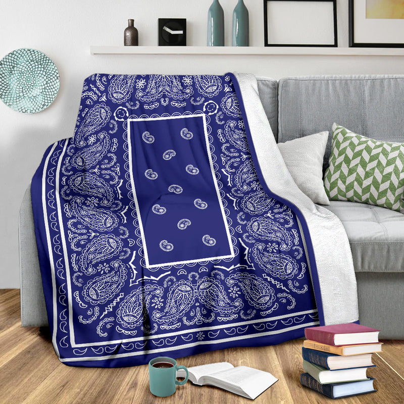 bandana print throw blankets
