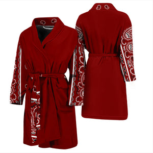 maroon bathrobe for men