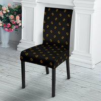 Black Gold Bandana Dining Chair Covers - 4 Patterns