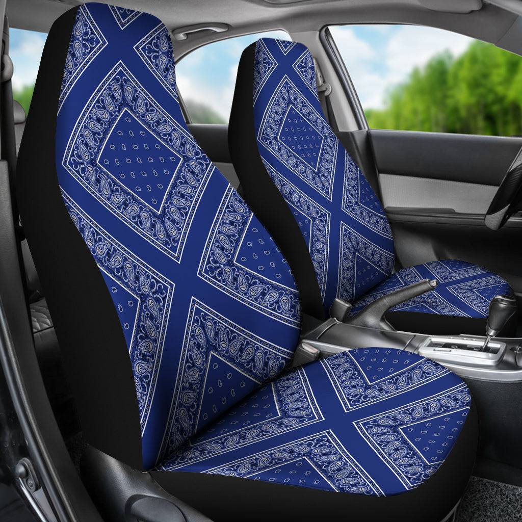 Royal blue car seat covers