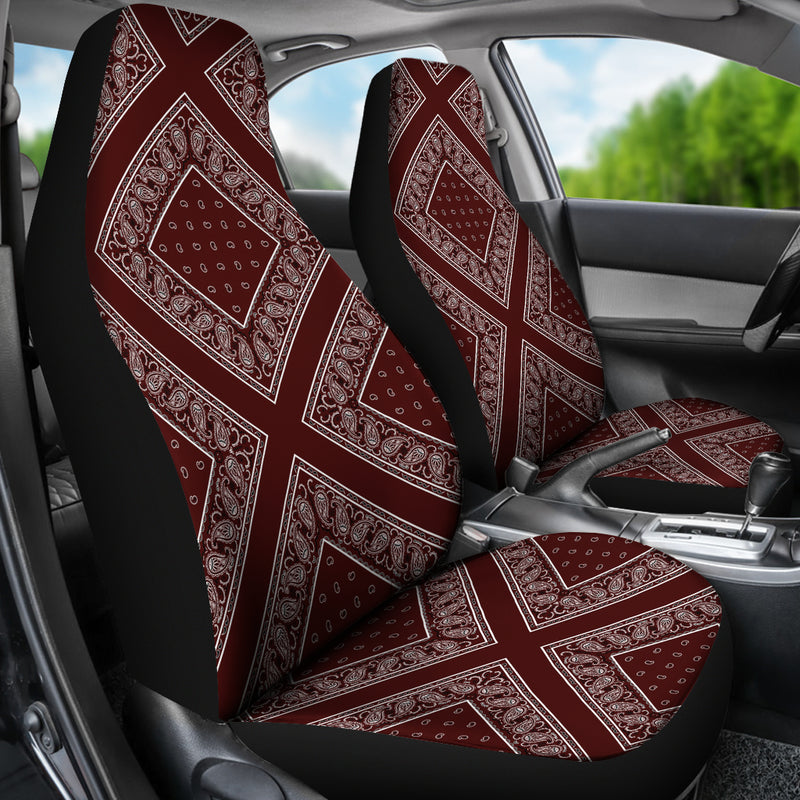Burgundy seat cover