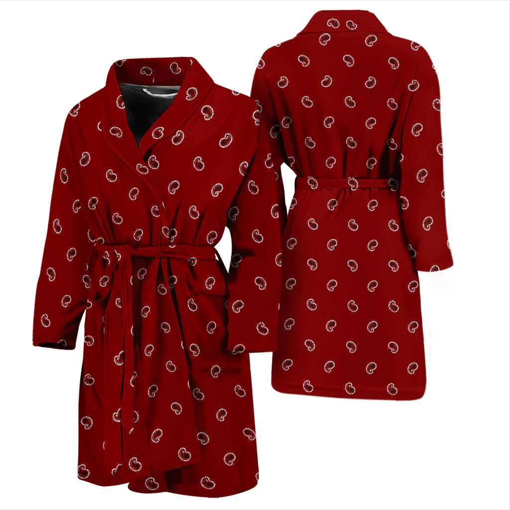 maroon red bandana bathrobe